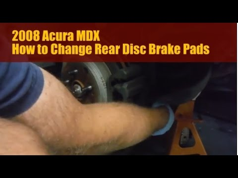 2008 Acura MDX How to Replace Rear Brake Pads - YouTube
