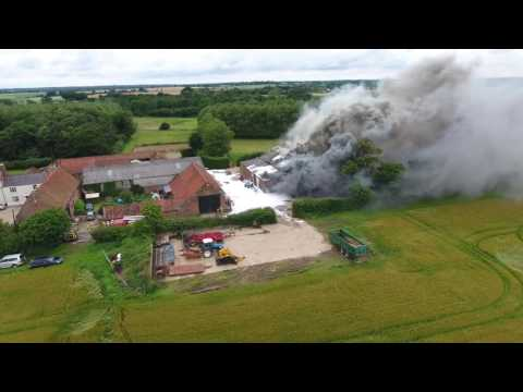 Workshop Fire - Felmingham, Norfolk, UK  - 10th July 2016