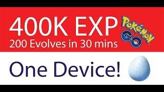 Pokémon Go World Record 200 Mass Evolutions 400,000 XP in 30 Minutes!!!