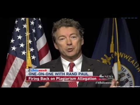 Rand Paul Responds To Plagiarism  Accusations: