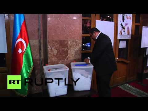 Azerbaijan: Vote counting starts amid dance party
