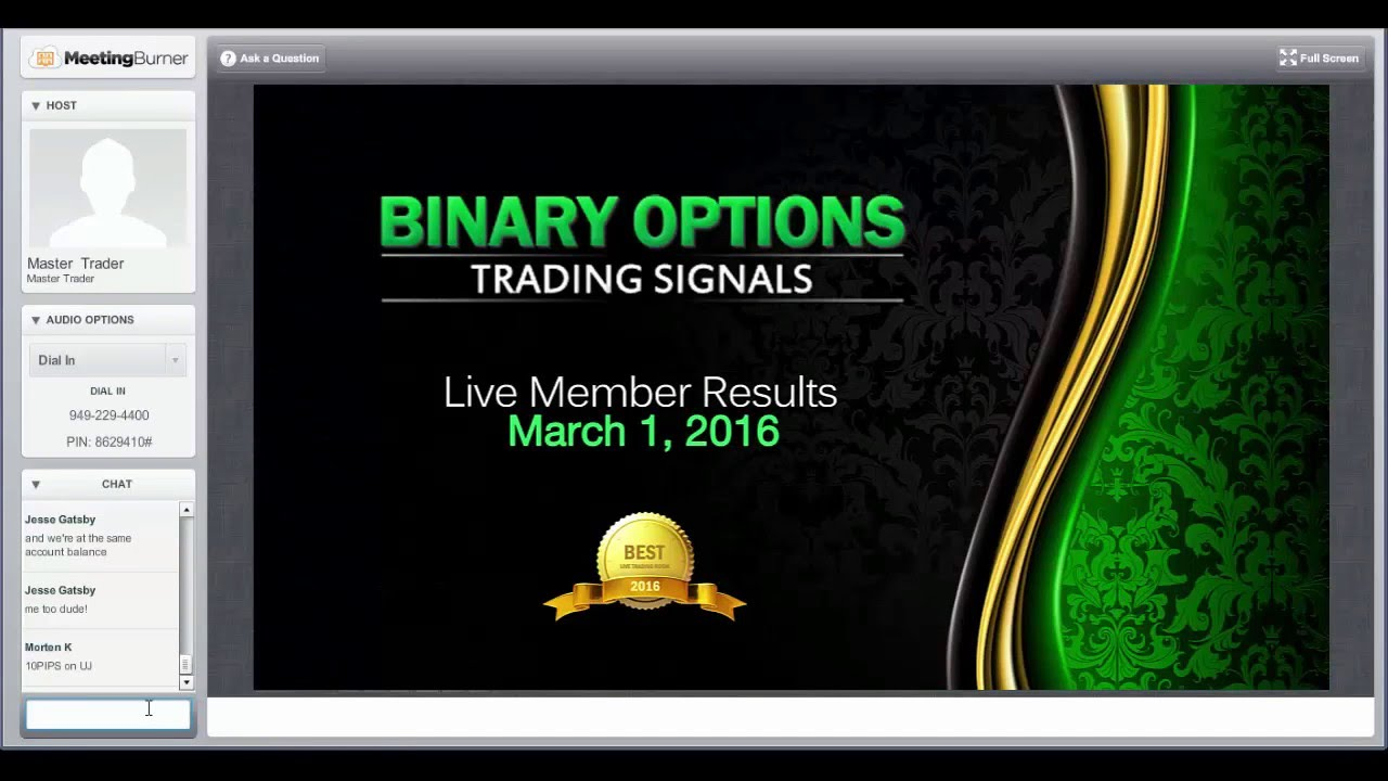 Binary options trading signals youtube