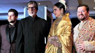 Amitabh Bachchan And Rekha Together At Neil Nitin Mukesh Wedding Reception