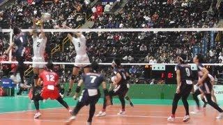 春高バレー 東福岡 vs 東山 京都 男子1回戦 2013