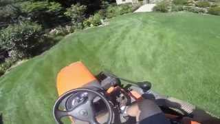 Kubota BX Mid Mount Mower,  cuttting grass