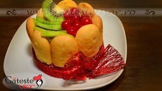 Reteta de Minitorturi fara gluten cu Piscoturi si Fructe