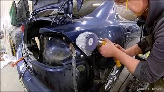 Рихтовка и покраска заднего крыла Mitsubishi Lancer 10