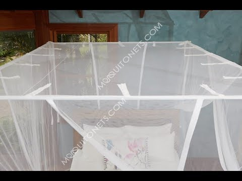 Diy Mosquito Net Curtain Rod Frame Instructions Youtube