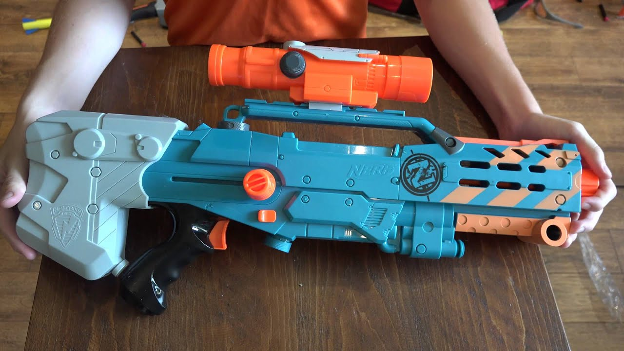 NERF Zombie Strike ZED Squad Longshot CS 12 Unboxing and Review