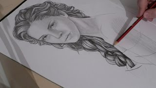 Speed Drawing Emma Watson as Belle (Beauty and the Beast)