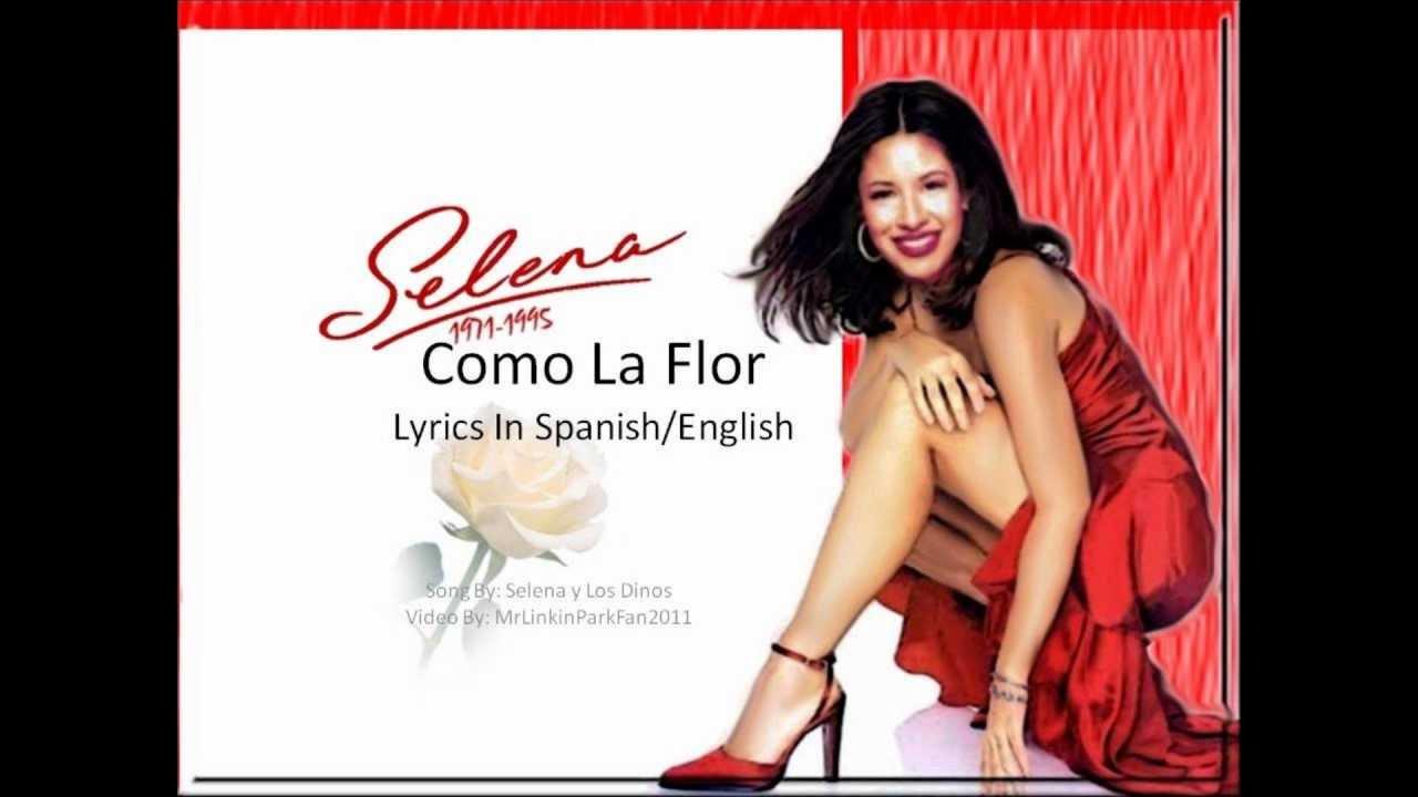 Selena como la flor lyric video with english lyrics youtube voltagebd Gallery