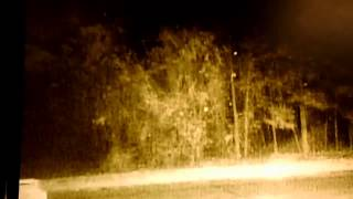 Bigfoots on video - throwing orbs at our house from across the street