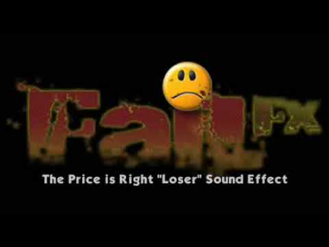 """The Price is Right """" Loser """" Losing Horns - Sound Effect"""