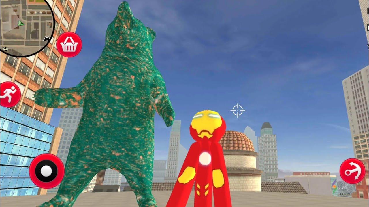 Stickman Iron Man Kurus Penjaga Kota Hantu👻 Yang Sangat Ceria😂 Game Lucu😂
