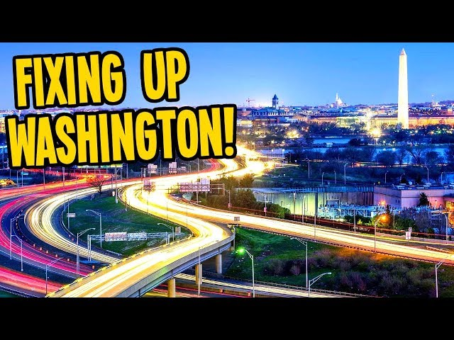 Even Washington Needs Roundabouts to Fix Traffic in Cities Skylines!
