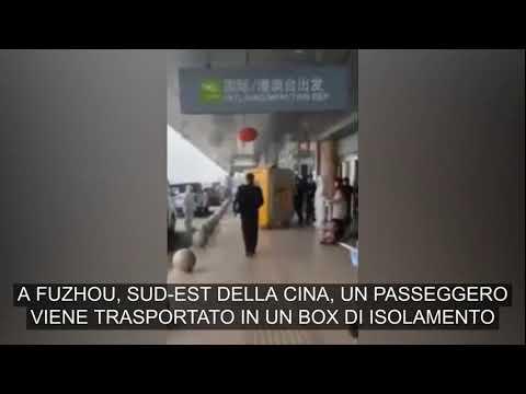 Corriere della Sera: Cina: i passeggeri infetti trasportati fuori dall'aeroporto in box di isolamento