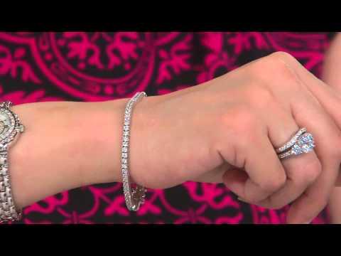 Epiphany Diamonique 100-Facet Tennis Bracelet with Jacque Gonzales