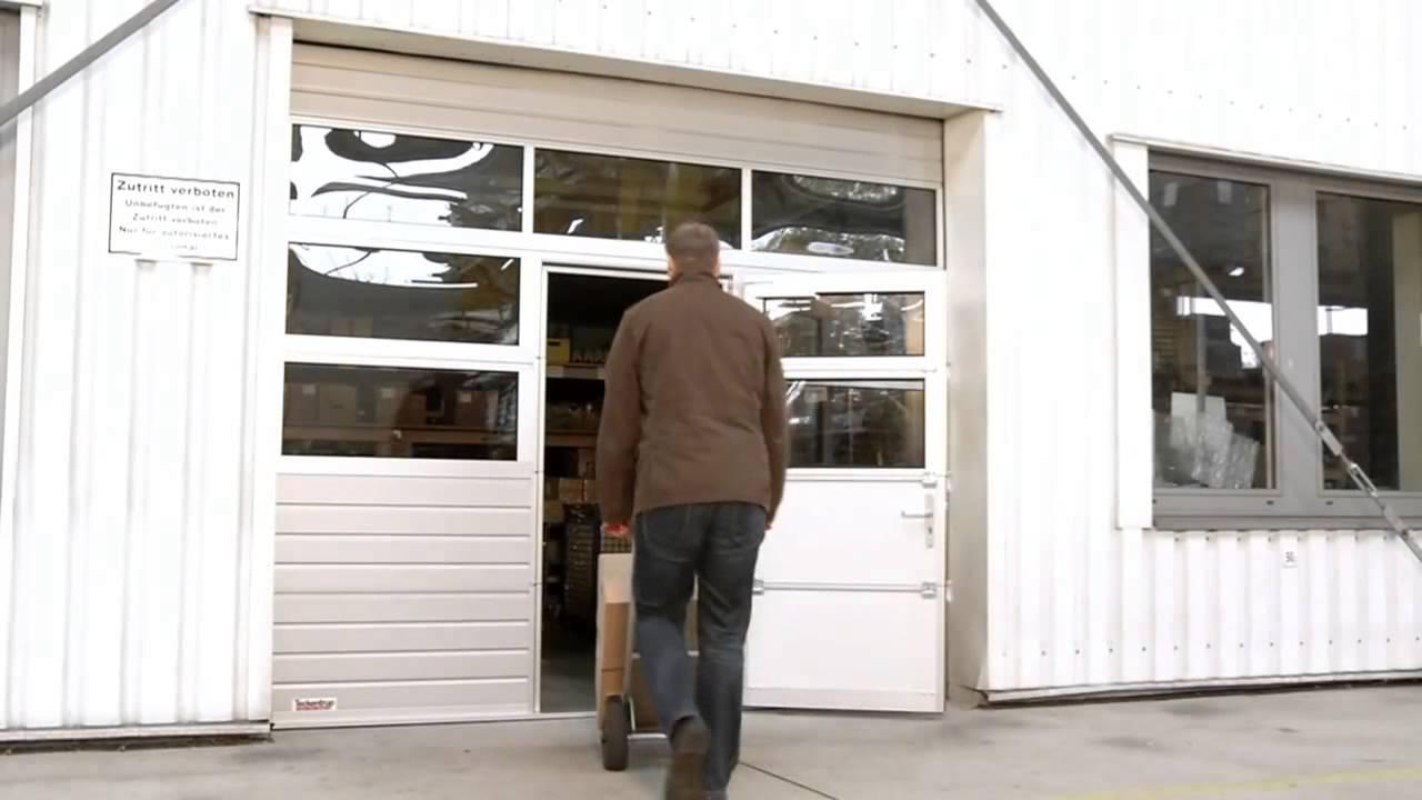 Teckentrup Wicket door with low threshold & Teckentrup Wicket door with low threshold - YouTube