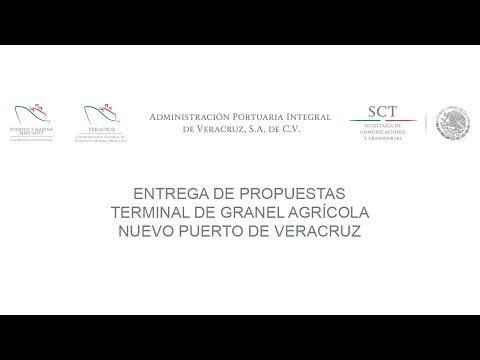 Entrega de propuestas Terminal de Granel Mineral Nuevo Puerto de Veracruz