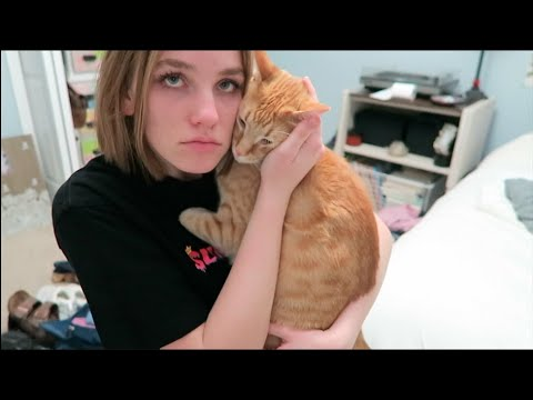 PACK WITH ME FOR SPRING BREAK! *emotional goodbye with my cat*