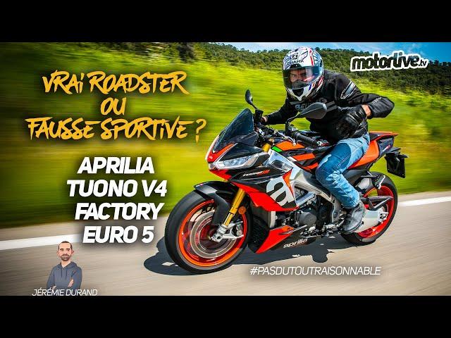 APRILIA TUONO V4 FACTORY EURO 5 - 2021 l TEST MOTORLIVE