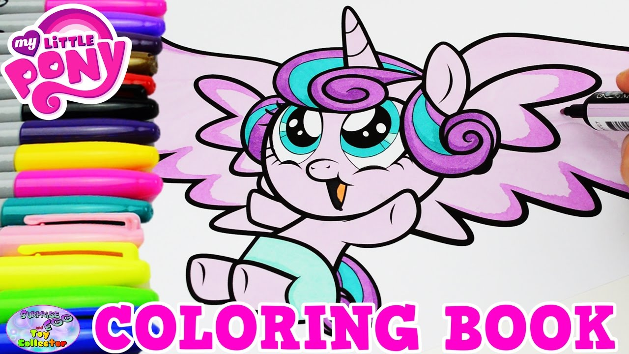 My Little Pony Coloring Book Baby Princess Flurry Heart Episode Surprise Egg And Toy Collector SETC