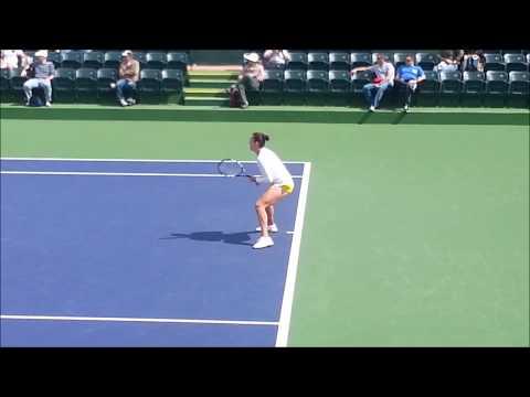 BNP Paribas Open - Indian Wells - Anastasia Pavlyuchenkova - Courtside View