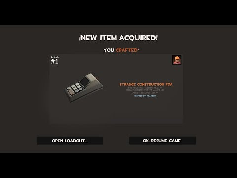 TF2: How to Craft a Strange Construction PDA
