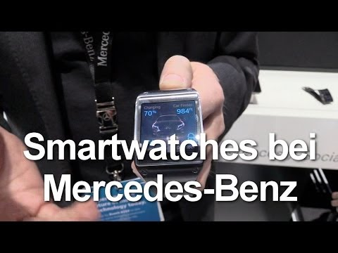 Smartwatches bei Mercedes-Benz (Galaxy Gear und Pebble)