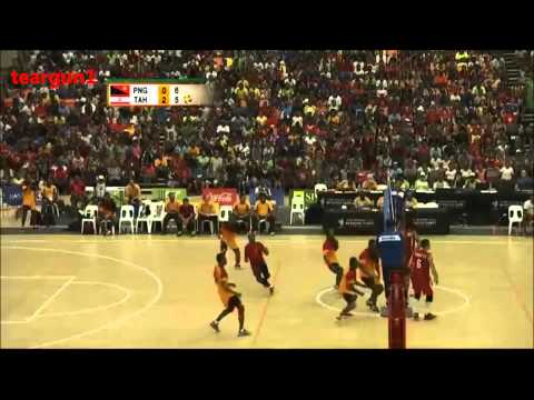 PNG Vs Tahiti  Men's Volleyball Match 15th Pacific Games 2015