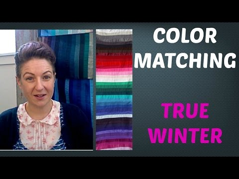Winter Color Palette - Mix and Matching Colors for Clothing | Cool Skin Undertone | Color Analysis