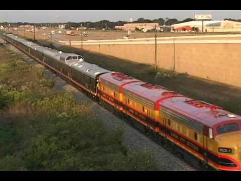 KCS Southern Belle Passenger Train in Texas, Oct. 11, 2010