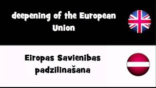 VOCABULARY IN 20 LANGUAGES = deepening of the European Union
