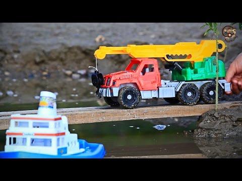 Мультик про машинки. Трактор, автокран, бульдозер и самосвал. МанкитуМульт