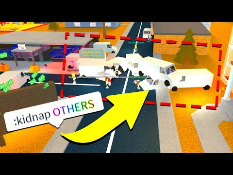 KIDNAPPING EVERYBODY WITH ADMIN COMMANDS! (Roblox)
