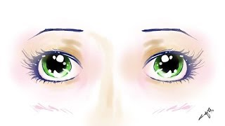 Autodesk | my first digital drawings | how to color manga eyes | manga eye tutorial