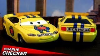 NEW Cars Charlie Checker Diecast Yellow n Red Tail Lights Security Pace Car Pistoncup Disney Pixar