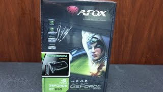 afox nvidia geforce gt630 2gb ddr3 128bit graphics card unboxing and installations