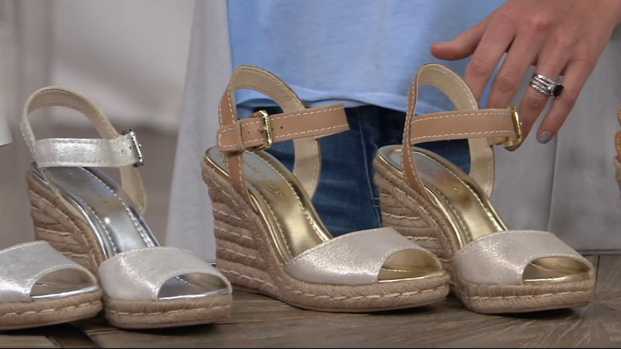 d978d8942b5 Marc Fisher Peep-toe Espadrille Wedges-Maiseey on QVC - YouTube