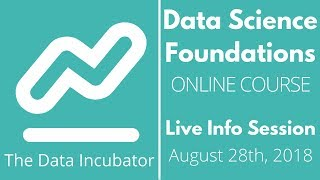 Data Science Foundations September Info Session