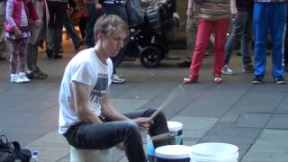 The Fastest Street Drummer Ever - Sydney Australia HD (Pt 1)