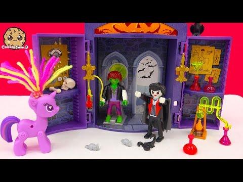 Playmobil Vampire Haunted Lab Playset With My Little Pony Twilight Sparkle - Cookieswirlc Video