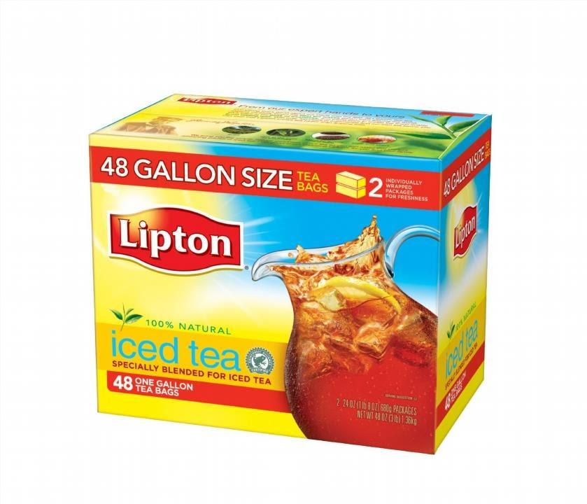 Lipton Black Iced Tea Bags Gallon Size 48 Ct