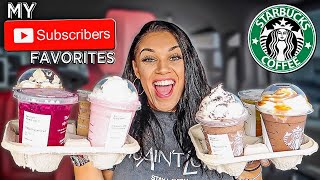 Trying MY Subscribers FAVORITE Starbucks Drinks | Biannca Prince