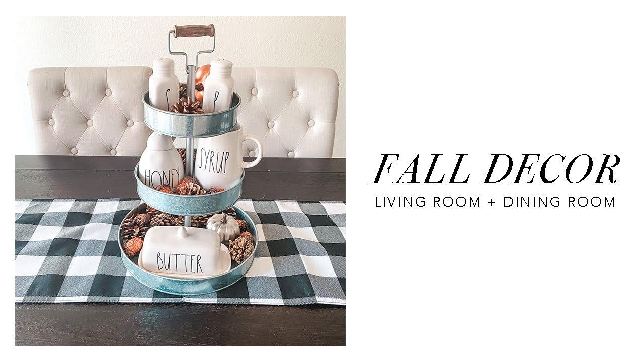 Fall Decor Living Room Dining Room Decorate With Me Modern Farmhouse Fall Decor 2020 Youtube