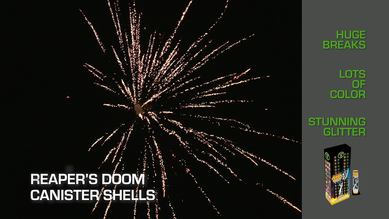 Reaper's Doom Canister Shells - Alien Fireworks - YouTube