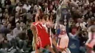 Yao Ming Gets Stuffed by Nate Robinson