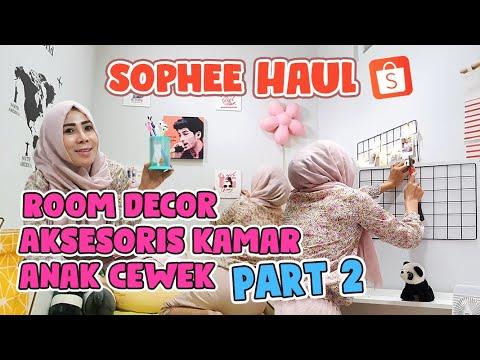 shopee haul room decor & makeover aksesoris kamar anak