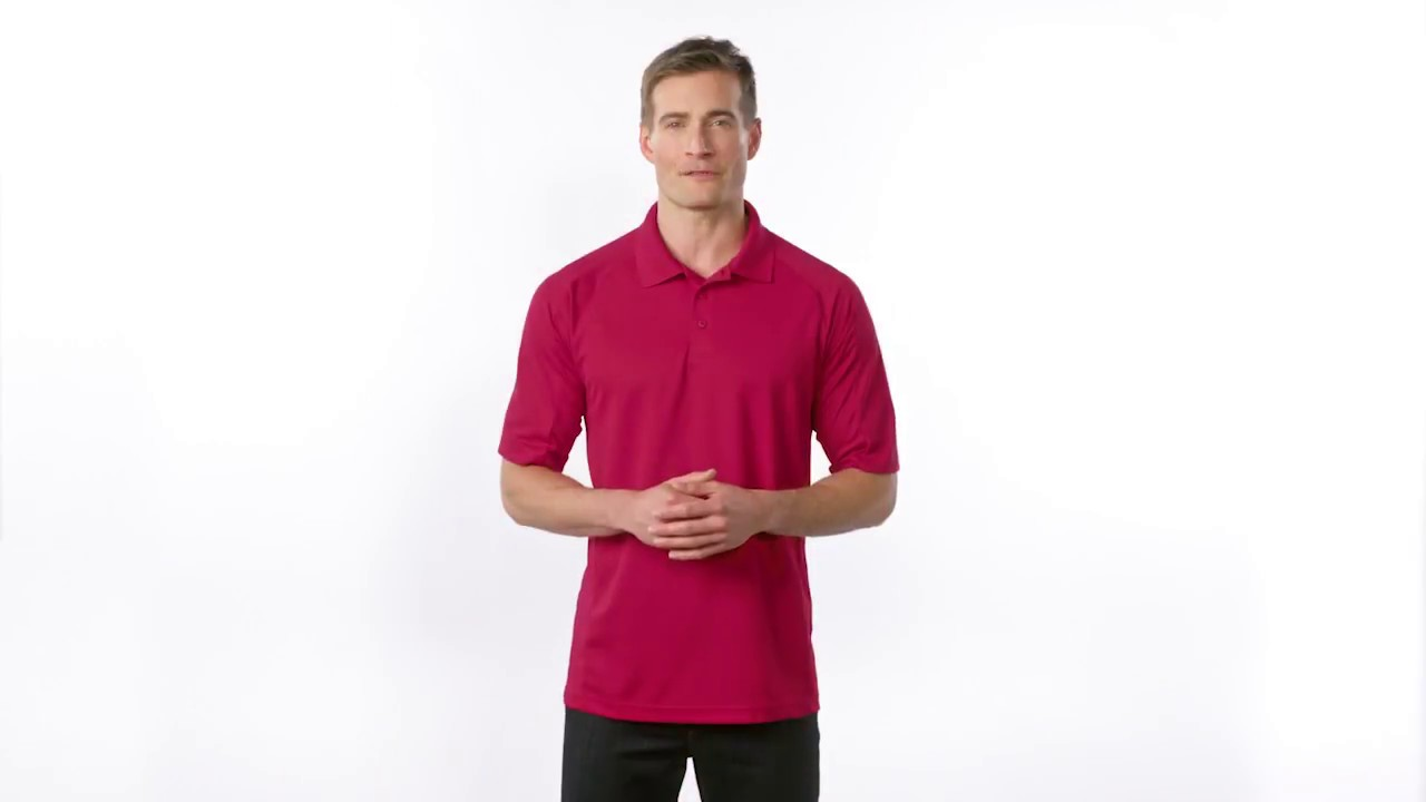 Sport Tek Dri Mesh Pro Polo T474 Youtube