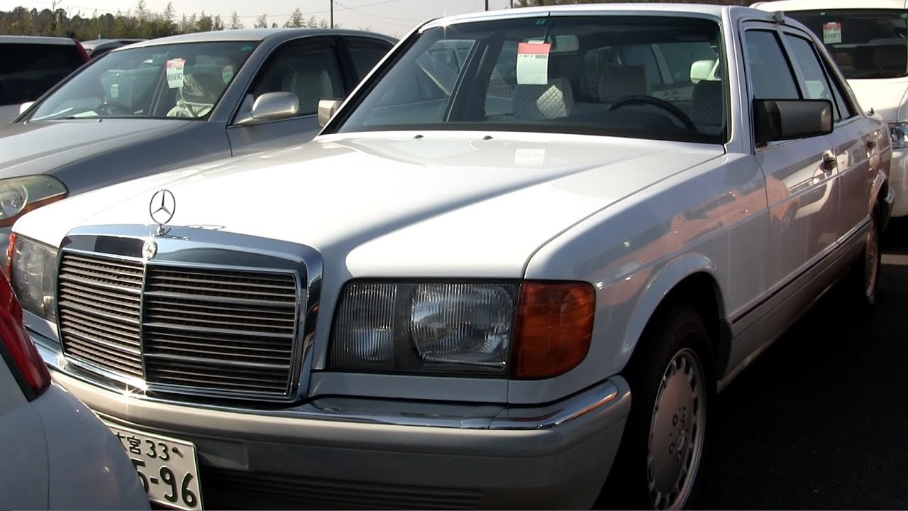 1989 mercedes benz 300se 10k lhd japanese car auctions for Mercedes benz car auctions